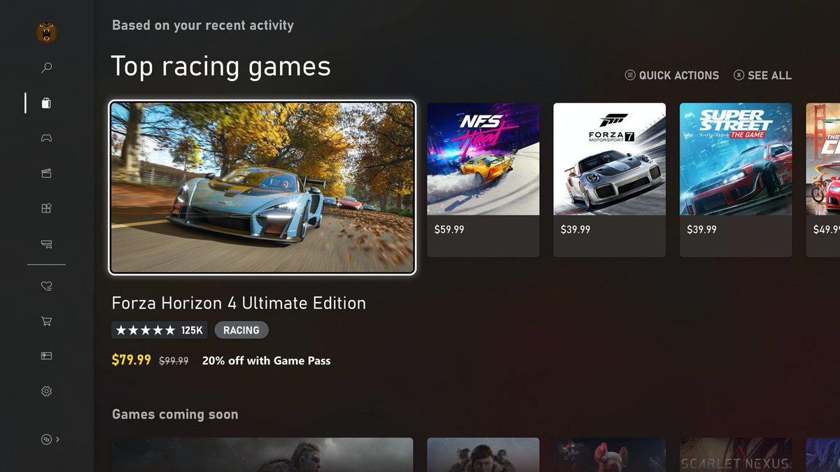 Microsoft divulgadas imagens da nova Dashboard do Xbox Series X